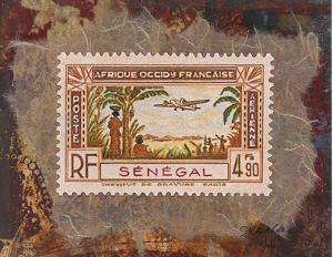 Senegal Stamp by Ann Walker