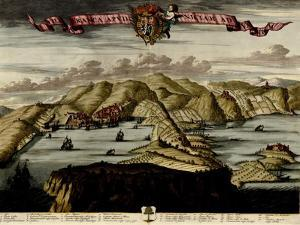 Straits and Defenses at Gibraltar - 1700 by Anna Beeck