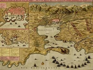 Straits of Cadiz - Gibraltar - 1700 by Anna Beeck
