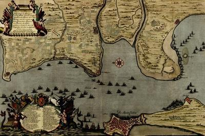 Toulon, France Harbor and Defenses - 1700
