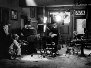 ANNA CHRISTIE, 1930 directed by CLARENCE BROWN On the set, Clarence Brown directs Greta Garbo (b/w