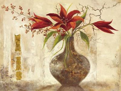 Red Lilies I - Goldfoil by Anna Field