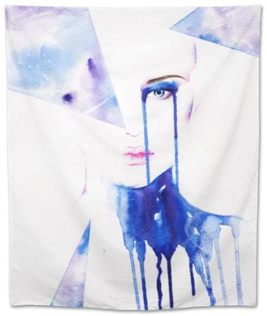Abstract Watercolor .Woman Portrait by Anna Ismagilova
