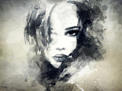 Abstract Woman Portrait by Anna Ismagilova