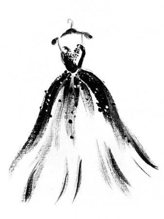 Art Sketch of Beautiful Dress by Anna Ismagilova