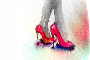 Background with Shoes by Anna Ismagilova