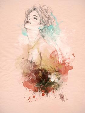 Beautiful Woman . Hand Painted Fashion Illustration by Anna Ismagilova