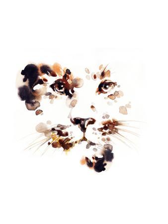Leopard .Watercolor Illustration