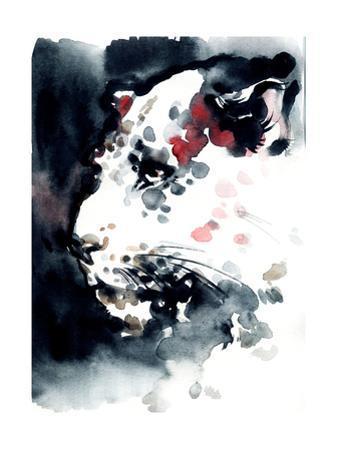 Leopard .Watercolor Illustration by Anna Ismagilova