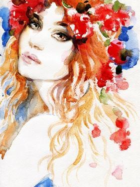Woman. Hand Painted Fashion Illustration by Anna Ismagilova