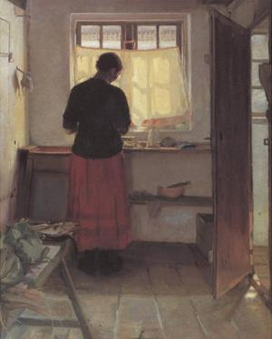 Girl in the Kitchen by Anna Kirstine Ancher