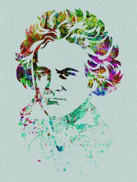 Beethoven Watercolor by Anna Malkin