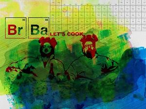 Br Ba Watercolor 1 by Anna Malkin
