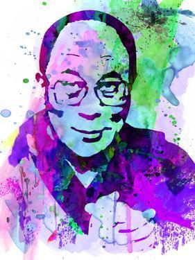 Dalai Lama Watercolor by Anna Malkin