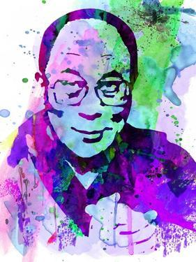 Dalai Lama Watercolor by Anna Malkin