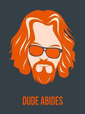 Dude Abides Orange Poster by Anna Malkin