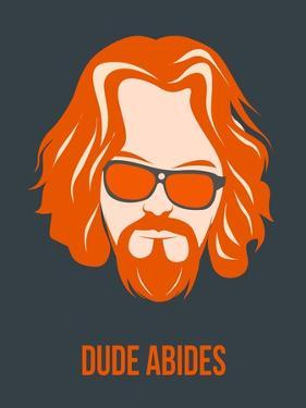 Dude Abides Orange Poster by Anna Malkin
