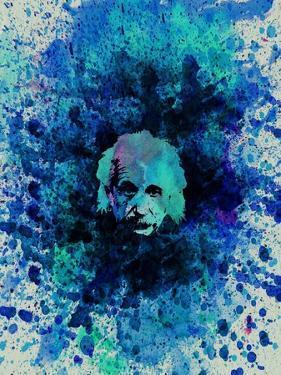 Einstein Watercolor 2 by Anna Malkin