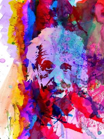 Einstein Watercolor by Anna Malkin