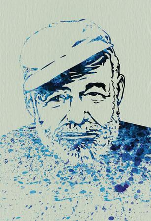 Hemingway Watercolor 1 by Anna Malkin