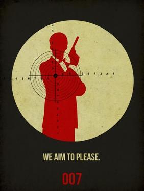 James Poster Black 2 by Anna Malkin