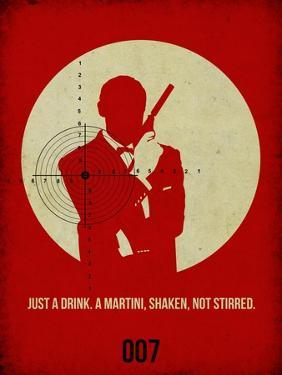 James Poster Red 4 by Anna Malkin