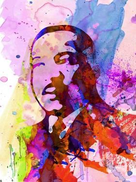 Martin Luther King Watercolor by Anna Malkin