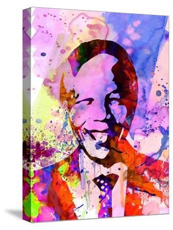 Nelson Mandela Watercolor by Anna Malkin