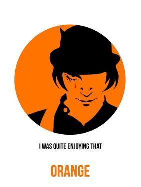 Orange Poster 1 by Anna Malkin