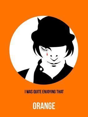 Orange Poster 2 by Anna Malkin