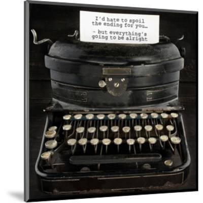 Old Antique Typewriter With Text by Anna-Mari West