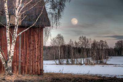 Old Red Barn in A Countryside Landscape by Anna-Mari West