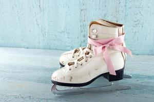 Pair Of White Women'S Ice Skates by Anna-Mari West