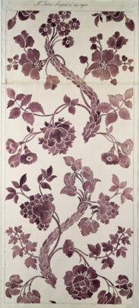 Design For a Silk Damask, 1752