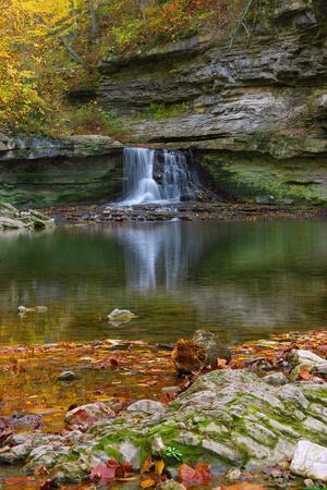 Autumn waterfall in McCormics Creek State Park, Indiana, USA