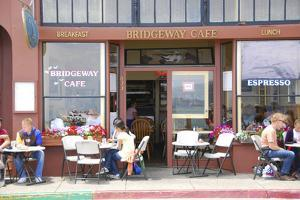 Cafe on Sausalito sidewalk, Marin County, California by Anna Miller