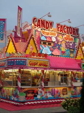Fair food vendor shacks, Indiana State Fair, Indianapolis, Indiana, by Anna Miller