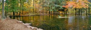 Fall colors over pond in Nature Center, Eagle Creek Park, Indianapolis, Indiana, USA by Anna Miller