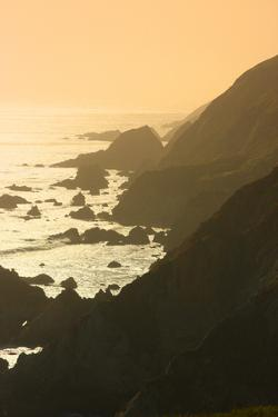 Golden Light on Coastal Hills of Califonia's Big Sur by Anna Miller