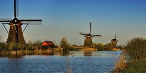 Kinderdijk Windmills, Holland by Anna Miller