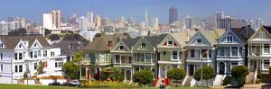 Row of Victorian Houses in San Francisco by Anna Miller