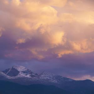 USA, Colorado. Long's Peak at sunset in Rocky Mountain National Park. by Anna Miller
