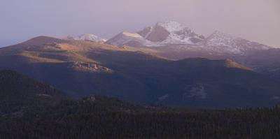Vista of Long's Peak from Moraine Park in Rocky Mountain National Park, Colorado,USA by Anna Miller