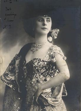Anna Pavlova Russian Ballet Dancer in an Ornate Costume in 1910