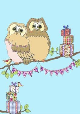 Birthday Owls, 2013 by Anna Platts