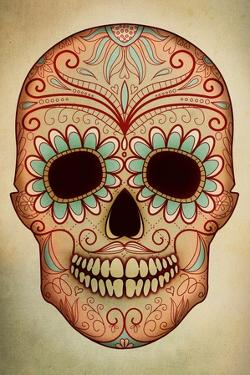 Day of the Dead Skull II by Anna Polanski