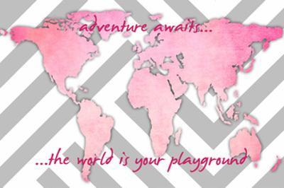 Adventure Awaits Pink by Anna Quach