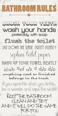 Bathroom Rules by Anna Quach