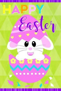 Happy Easter Bunny in Egg by Anna Quach