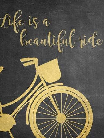 Life is a Beautiful Ride - Grey by Anna Quach